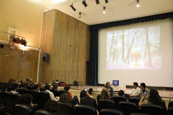 Durante la presentación del proyecto Valdelarte.